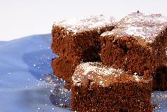 Zachte toffee Brownies royalty-vrije stock fotografie