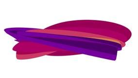 Zachte van de de achtergrond lijn abstracte vorm van het kleuren vlak 3D gebogen suikergoed naadloze de animatie nieuwe dynamisch stock video