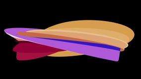 Zachte van de de achtergrond lijn abstracte vorm van het kleuren vlak 3D gebogen suikergoed naadloze de animatie nieuwe dynamisch stock footage