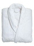 Zachte witte badjas Stock Foto
