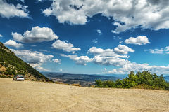 Zachte wolken over Monte Pisanu stock foto's