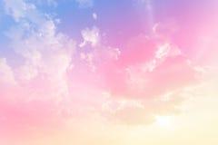 Zachte wolkenachtergrond Stock Afbeelding