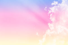 Zachte wolkenkleur als achtergrond Royalty-vrije Stock Fotografie