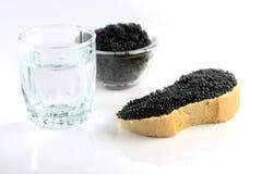Zachte zwarte kaviaar Stock Afbeeldingen
