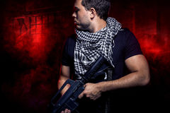 Zaciężny żołnierz od Intymnego Wojskowy Firma Zdjęcia Royalty Free
