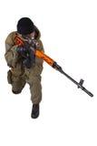 Zaciężny snajper z SVD snajperskim karabinem Zdjęcie Royalty Free