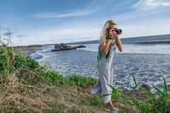 zaciemniający widok bierze obrazek naturalna scena kobieta obrazy stock