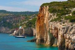 Zacinto, Grecia - caverne blu incredibili Fotografia Stock