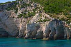 Zacinto, Grecia - caverne blu incredibili Immagini Stock