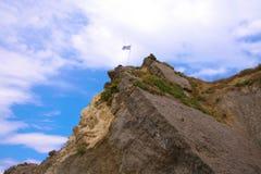 Zacinto, Grecia - le rocce naturali a Kalamaki tirano Fotografia Stock Libera da Diritti