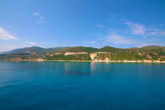 Zacinto, Grecia - linea costiera incredibile Fotografia Stock Libera da Diritti