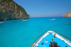 Zacinto, Grecia - spiaggia di Navagio Immagini Stock