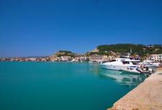 Zacinto, Grecia - visualizzazione incredibile alla porta di Zacinto Fotografia Stock