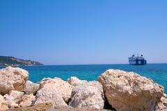 Zacinto, Grecia - visualizzazione incredibile alla porta di Zacinto Fotografie Stock