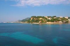 Zacinto, Grecia - visualizzazione incredibile alla porta di Zacinto Fotografie Stock Libere da Diritti