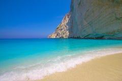 Zacinto, isola Agios Sostis della tartaruga della Grecia Marathonisi Immagine Stock Libera da Diritti
