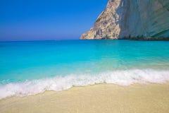 Zacinto, isola Agios Sostis della tartaruga della Grecia Marathonisi Fotografie Stock Libere da Diritti