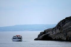 Zacinto - tripboat Fotografia Stock