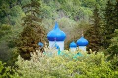 zaciszność i dalecy Ortodoksalni kościół obrazy royalty free