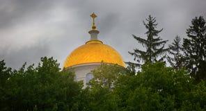 zaciszność i dalecy Ortodoksalni kościół obraz stock