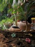Zaciszność ogródu kąt fotografia royalty free