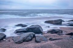 Zaciszności plaża Zdjęcie Stock