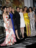 Zack Snyder, Carla Gugino, Jena Malone, Abbie Cornish, Emily Browning, Jamie Chung and Vanessa Hudgens Royalty Free Stock Image