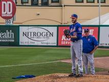 Zack Wheeler New York Mets Pitcher 2017 Royalty-vrije Stock Afbeelding