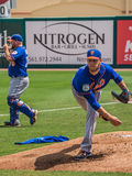 Zack Wheeler Practicing New York Mets 2017. Warming up, Zack Wheeler at New York Mets spring training in Florida stock photography