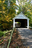 Zacke Cox Bridge. Covered Bridge in Parke County, Indiana royalty free stock photo