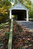 Zacke Cox Bridge. Covered Bridge in Parke County, Indiana royalty free stock photography