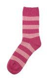 Zacken Sie die Socke aus, die auf Weiß getrennt wird Lizenzfreie Stockbilder