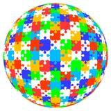 zackige Kugel Puzzlespiels des Vektor 3d in der Farbe Stockfoto