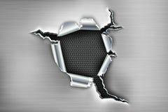 Zackiges Loch im Metall Lizenzfreie Stockbilder
