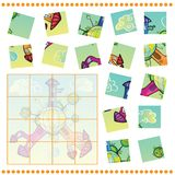 Zackiges Rätselspiel für Kinder Stockbilder