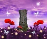 zaczarowane flory royalty ilustracja