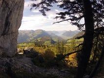 Zaczarowani zieleni wzgórza Zdjęcia Royalty Free