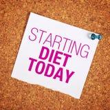 Zaczynać dietę Dzisiaj Obraz Stock