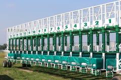 Zaczyna bramy dla racinghorses zamknięty up zdjęcie royalty free