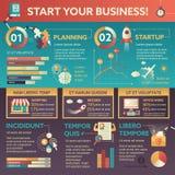 Zaczyna Twój biznes - plakat, broszurka okładkowy szablon royalty ilustracja