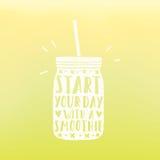 Zaczyna twój dzień z smoothie Obraz Stock