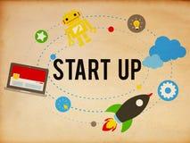 Zaczyna Up celu sukcesu planu biznesu Wzrostowego pojęcie Fotografia Stock