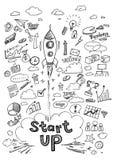 Zaczyna Up Infographics Ręka rysująca wektorowa ilustracja Fotografia Stock