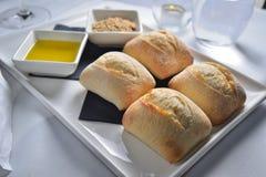 Zaczyniająca chlebowa rolka Zdjęcie Royalty Free