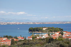 zadar海岸的海岛 库存照片