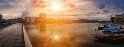 Zadar är den 5th största staden i Kroatien Arkivbild