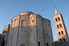 Zadar и церковь St Donatus Стоковое Изображение
