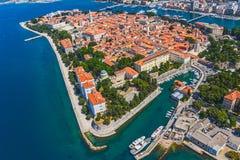 Zadar antenn Royaltyfri Fotografi