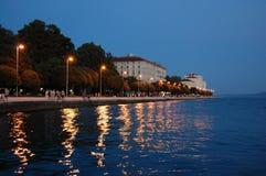 Zadar bis zum Nacht Stockfoto