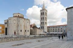Zadar. Byzantine Architecture. ZADAR, CROATIA - MAY 22, 2013: Church of St. Donat, 9th century Byzantine Architecture town of Zadar Croatia Adriatic Sea Stock Photo